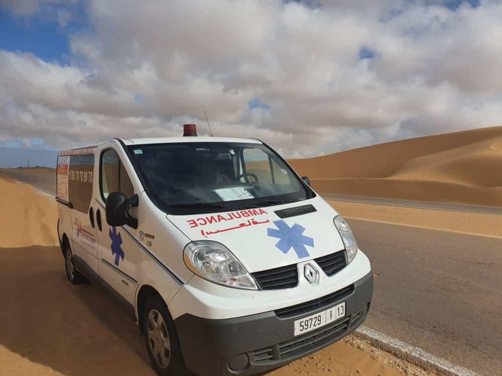ambulance casablanca court tragie